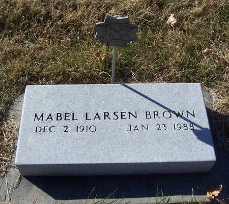 LARSEN BROWN, MABEL - Shelby County, Iowa | MABEL LARSEN BROWN
