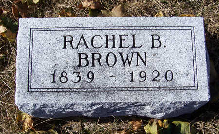 BROWN, RACHEL B. - Shelby County, Iowa | RACHEL B. BROWN