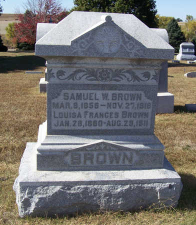 BROWN, SAMUEL W. - Shelby County, Iowa | SAMUEL W. BROWN
