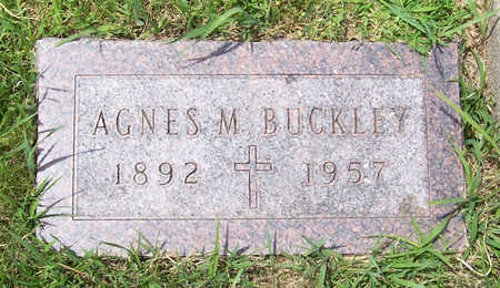 BUCKLEY, AGNES M. - Shelby County, Iowa | AGNES M. BUCKLEY