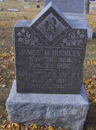 BUCKLEY, JAMES M. - Shelby County, Iowa | JAMES M. BUCKLEY