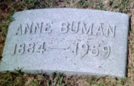 BUMAN, ANNE - Shelby County, Iowa | ANNE BUMAN