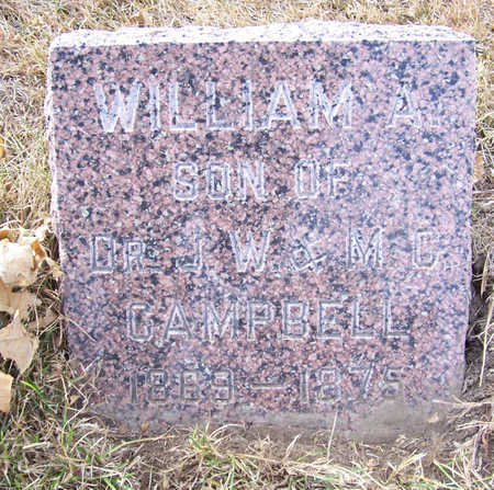 CAMPBELL, WILLIAM A. - Shelby County, Iowa | WILLIAM A. CAMPBELL