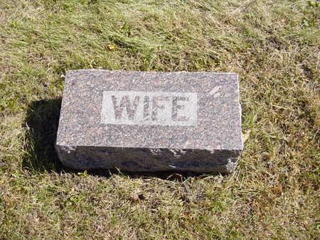 CARLSON, WIFE   (ANNA K.) - Shelby County, Iowa   WIFE   (ANNA K.) CARLSON