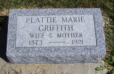 GRIFFITH CARMICHAEL, PLATTIE MARIE - Shelby County, Iowa | PLATTIE MARIE GRIFFITH CARMICHAEL