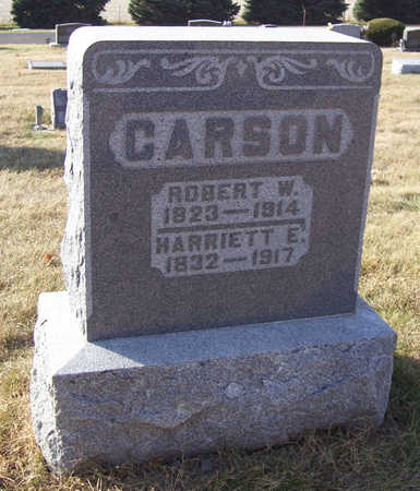CARSON, HARRIETT E. - Shelby County, Iowa | HARRIETT E. CARSON