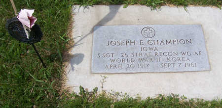 CHAMPION, JOSEPH E. (MILITARY) - Shelby County, Iowa | JOSEPH E. (MILITARY) CHAMPION