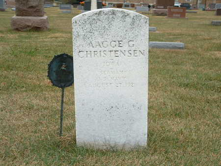 CHRISTENSEN, AAGGE G - Shelby County, Iowa | AAGGE G CHRISTENSEN