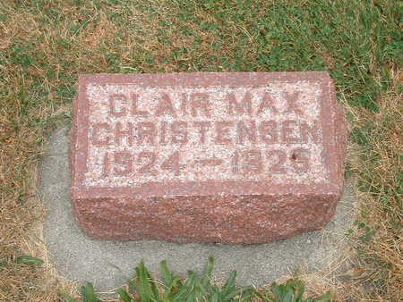 CHRISTENSEN, CLAIRE MAX - Shelby County, Iowa   CLAIRE MAX CHRISTENSEN