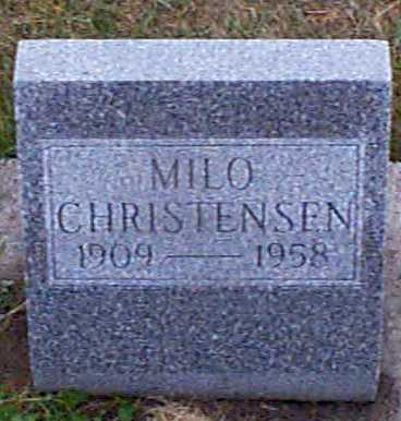 CHRISTENSEN, MILO - Shelby County, Iowa | MILO CHRISTENSEN