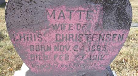 CHRISTENSEN, MATTE (CLOSE-UP) - Shelby County, Iowa | MATTE (CLOSE-UP) CHRISTENSEN