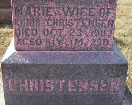 CHRISTENSEN, MARIE (CLOSE-UP) - Shelby County, Iowa | MARIE (CLOSE-UP) CHRISTENSEN