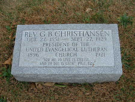 CHRISTIANSEN,  G B  REV - Shelby County, Iowa |  G B  REV CHRISTIANSEN