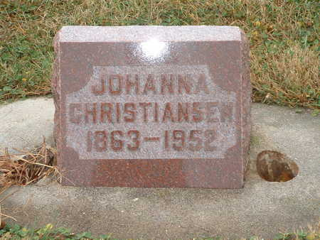 CHRISTIANSEN, JOHANNA - Shelby County, Iowa | JOHANNA CHRISTIANSEN