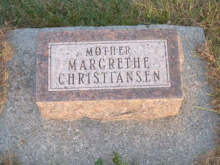 CHRISTIANSEN, MARGRETHE - Shelby County, Iowa | MARGRETHE CHRISTIANSEN
