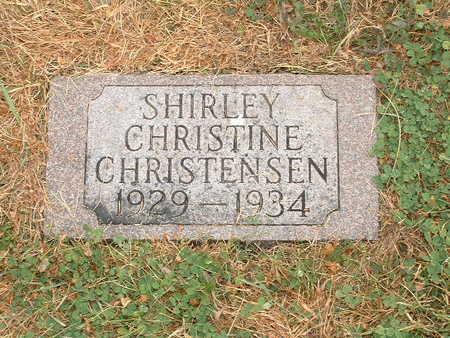 CHRISTENSEN, SHIRLEY CHRISTINE - Shelby County, Iowa   SHIRLEY CHRISTINE CHRISTENSEN