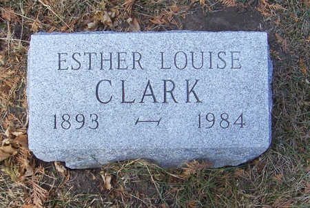 JONES CLARK, ESTHER LOUISE - Shelby County, Iowa | ESTHER LOUISE JONES CLARK