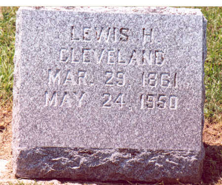CLEVELAND, LEWIS H, - Shelby County, Iowa | LEWIS H, CLEVELAND