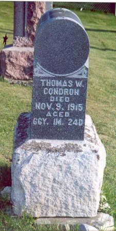CONDRON, THOMAS W. - Shelby County, Iowa | THOMAS W. CONDRON