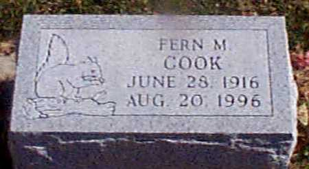 COOK, FERN M - Shelby County, Iowa | FERN M COOK