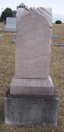 COX, DAVID M. - Shelby County, Iowa | DAVID M. COX