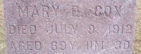 COX, MARY E. (CLOSE-UP) - Shelby County, Iowa | MARY E. (CLOSE-UP) COX