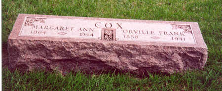 COX, ORVILLE & MARGARET - Shelby County, Iowa | ORVILLE & MARGARET COX