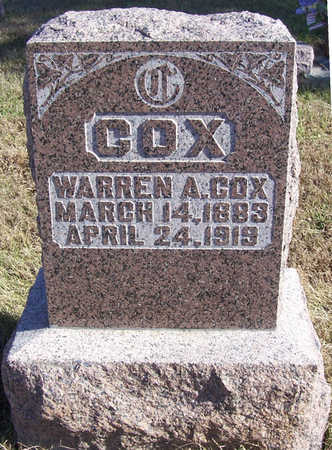 COX, WARREN A. - Shelby County, Iowa | WARREN A. COX