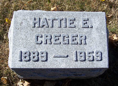 COLLINS CREGER, HATTIE E. - Shelby County, Iowa | HATTIE E. COLLINS CREGER