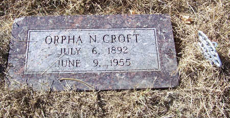 CROFT, ORPHA N. - Shelby County, Iowa | ORPHA N. CROFT