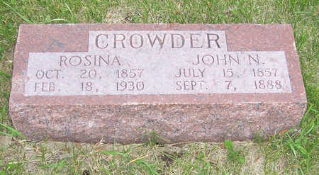CROWDER, ROSINA - Shelby County, Iowa | ROSINA CROWDER