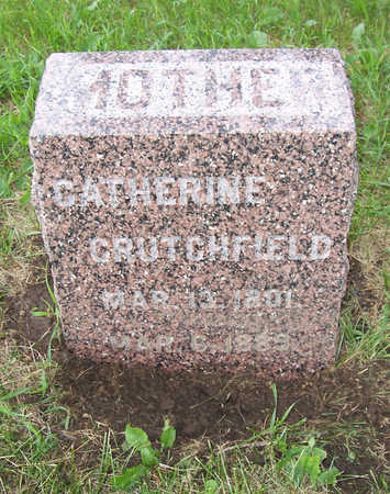 CRUTCHFIELD, CATHERINE - Shelby County, Iowa   CATHERINE CRUTCHFIELD