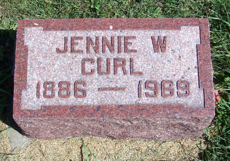 CURL, JENNIE W. - Shelby County, Iowa | JENNIE W. CURL