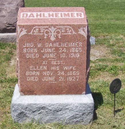 DAHLHEIMER, JNO. W. - Shelby County, Iowa | JNO. W. DAHLHEIMER