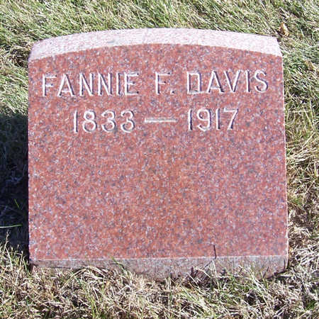 DAVIS, FANNIE F. - Shelby County, Iowa | FANNIE F. DAVIS