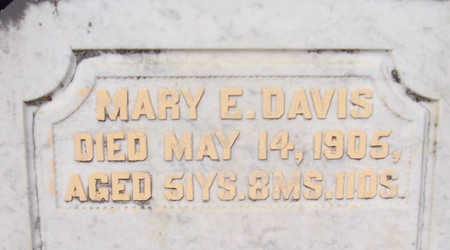 DAVIS, MARY E. (CLOSE-UP) - Shelby County, Iowa | MARY E. (CLOSE-UP) DAVIS