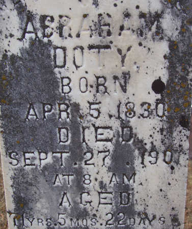 DOTY, ABRAHAM (CLOSE-UP) - Shelby County, Iowa | ABRAHAM (CLOSE-UP) DOTY