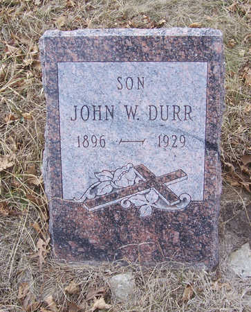 DURR, JOHN W. (SON) - Shelby County, Iowa | JOHN W. (SON) DURR