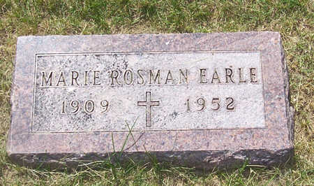 ROSMAN EARLE, MARIE - Shelby County, Iowa | MARIE ROSMAN EARLE