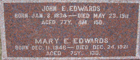 EDWARDS, MARY E. (CLOSE-UP) - Shelby County, Iowa | MARY E. (CLOSE-UP) EDWARDS