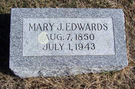 EDWARDS, MARY J. - Shelby County, Iowa   MARY J. EDWARDS