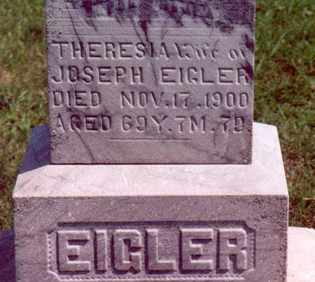 EIGLER, THERESIA - Shelby County, Iowa   THERESIA EIGLER