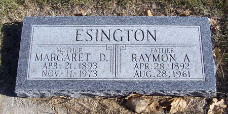 ESINGTON, MARGARET D. (MOTHER) - Shelby County, Iowa | MARGARET D. (MOTHER) ESINGTON