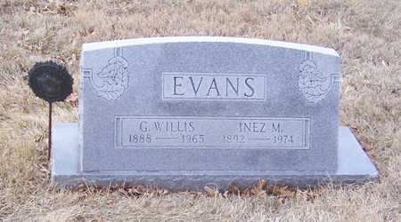 EVANS, G. WILLIS (MILITARY) - Shelby County, Iowa | G. WILLIS (MILITARY) EVANS