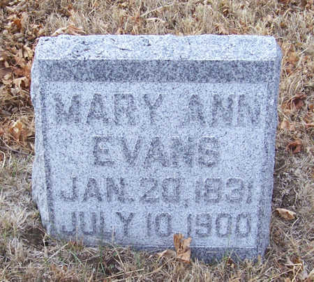 EVANS, MARY ANN - Shelby County, Iowa | MARY ANN EVANS