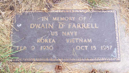FARRELL, DWAIN D. (MILITARY) - Shelby County, Iowa | DWAIN D. (MILITARY) FARRELL
