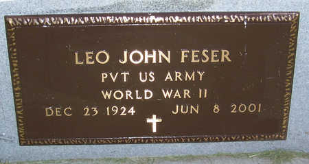 FESER, LEO JOHN (MILITARY) - Shelby County, Iowa | LEO JOHN (MILITARY) FESER