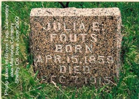 FOUTS, JULIA E. (ROUNDY) - Shelby County, Iowa | JULIA E. (ROUNDY) FOUTS