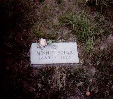 FOUTS, MINNIE (SEDA) - Shelby County, Iowa | MINNIE (SEDA) FOUTS