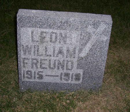 FREUND, LEON WILLIAM - Shelby County, Iowa | LEON WILLIAM FREUND